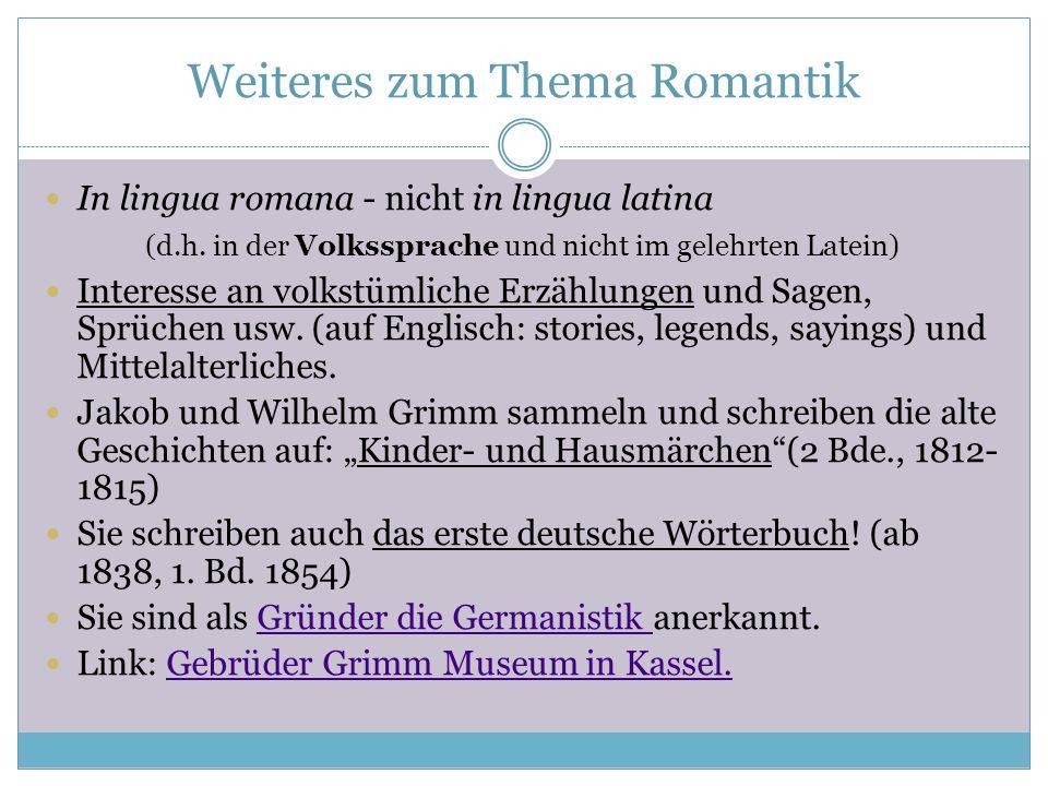 Weiteres zum Thema Romantik