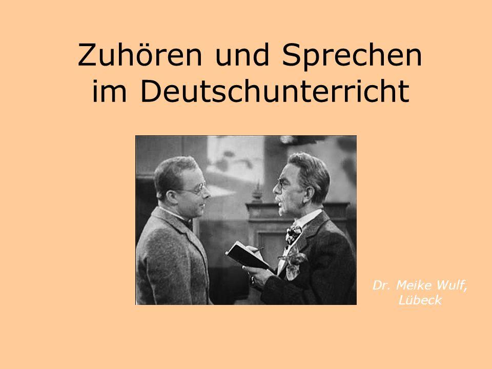 Zuhören und Sprechen im Deutschunterricht