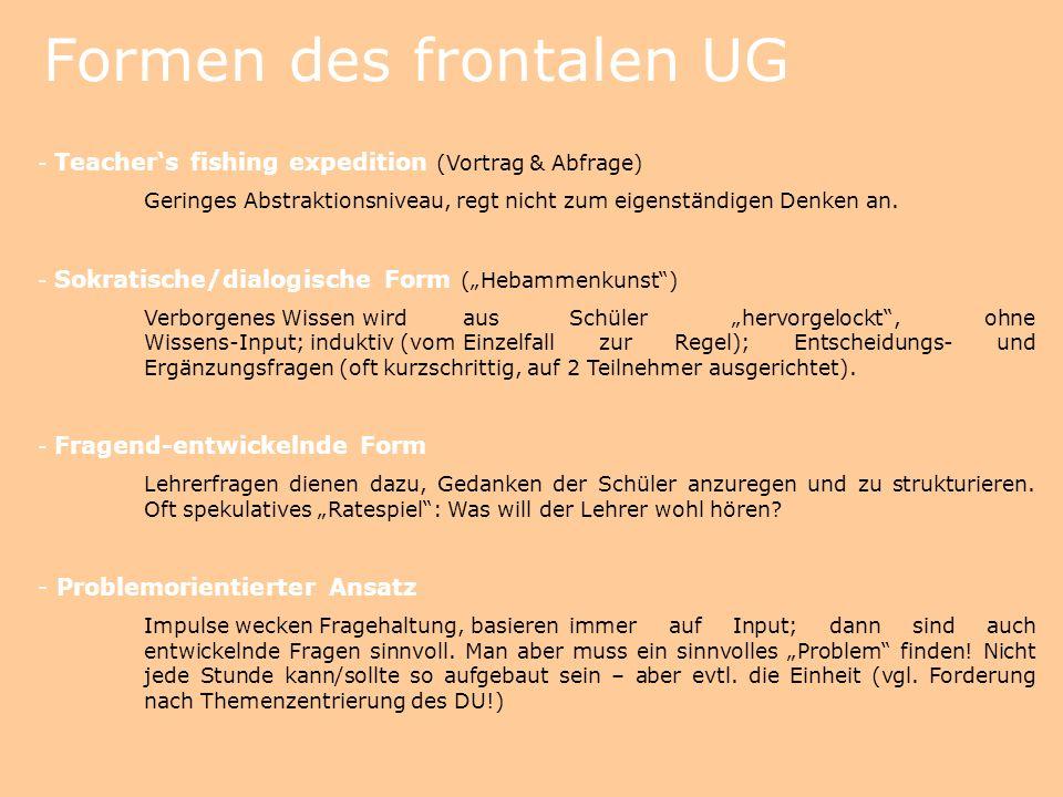 Formen des frontalen UG