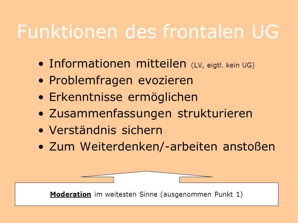 Funktionen des frontalen UG