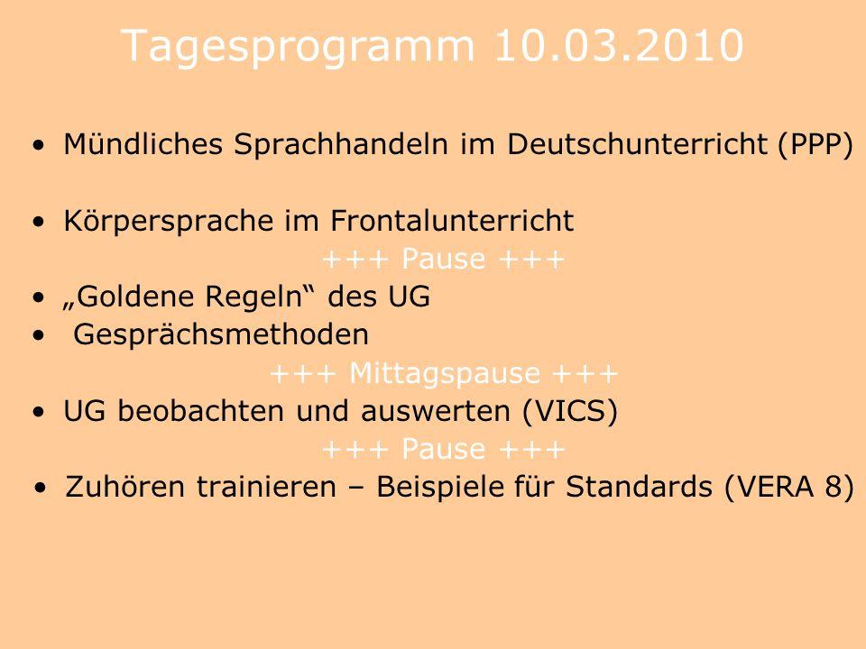 Zuhören trainieren – Beispiele für Standards (VERA 8)