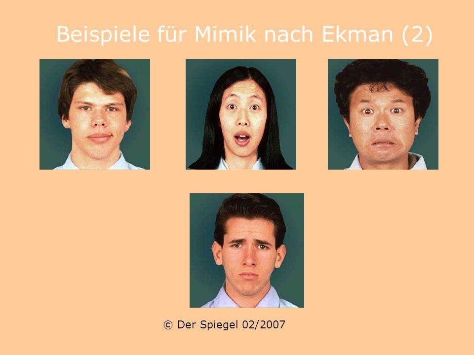 Beispiele für Mimik nach Ekman (2)