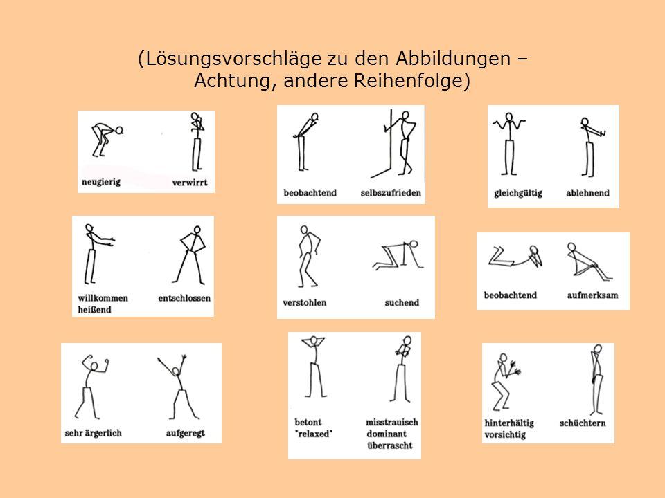 (Lösungsvorschläge zu den Abbildungen – Achtung, andere Reihenfolge)