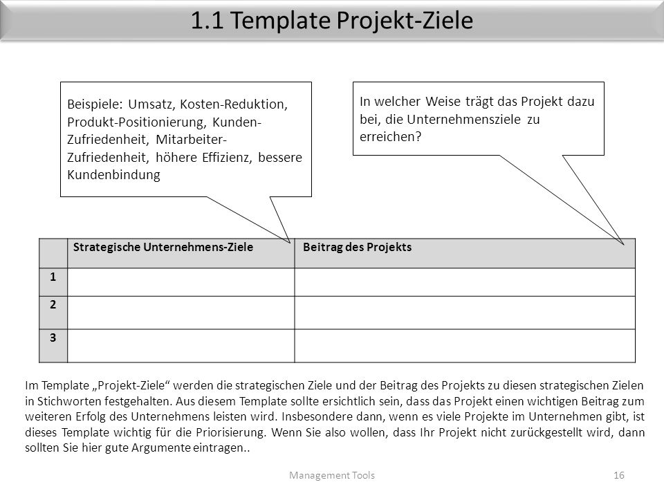 1.1 Template Projekt-Ziele