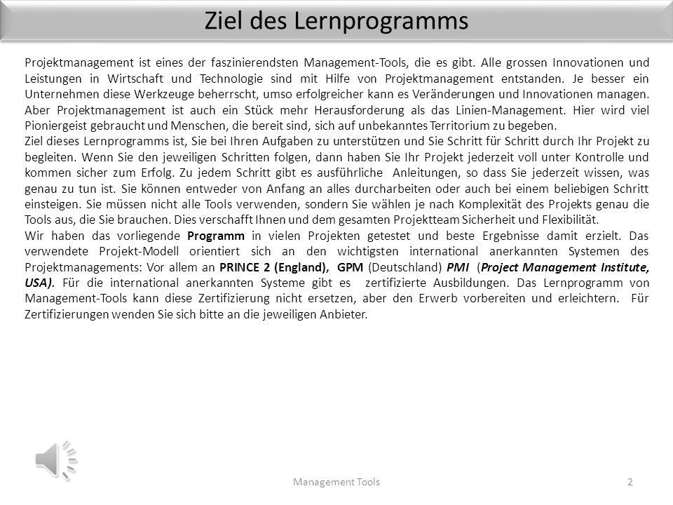 Ziel des Lernprogramms