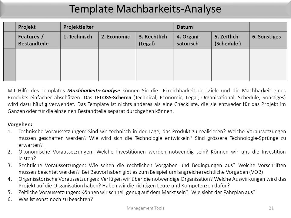 Template Machbarkeits-Analyse