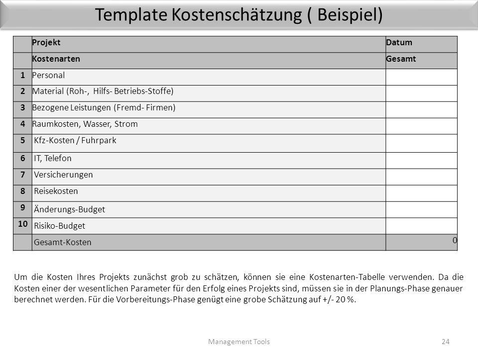 Template Kostenschätzung ( Beispiel)