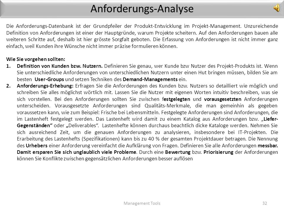 Anforderungs-Analyse