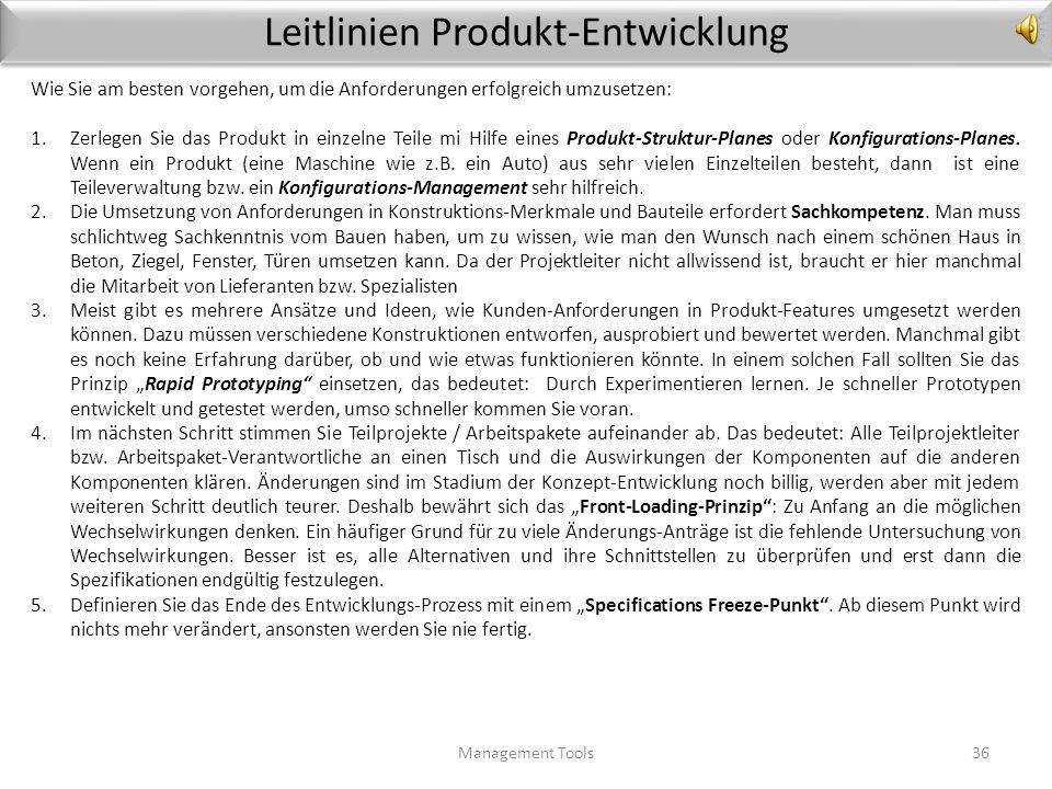 Leitlinien Produkt-Entwicklung