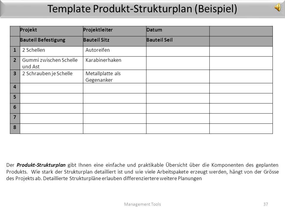 Template Produkt-Strukturplan (Beispiel)