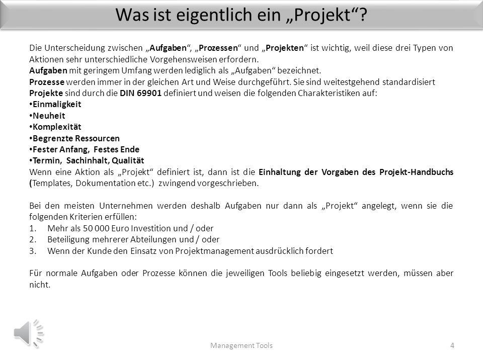 """Was ist eigentlich ein """"Projekt"""