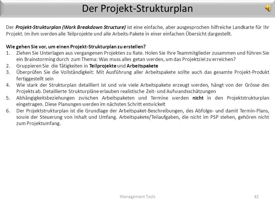 Der Projekt-Strukturplan
