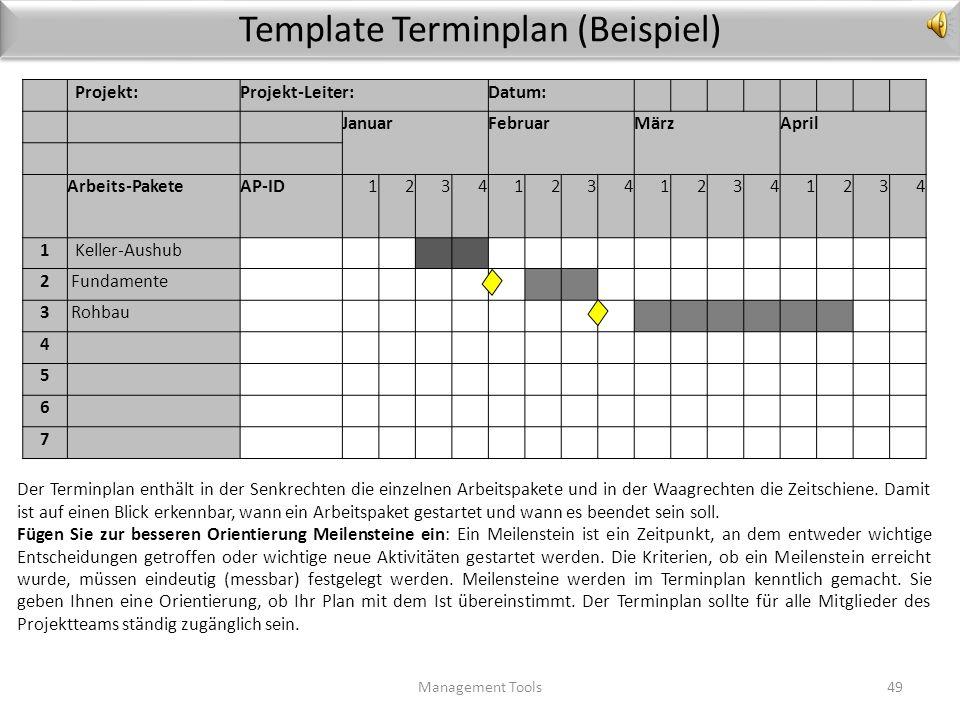 Template Terminplan (Beispiel)