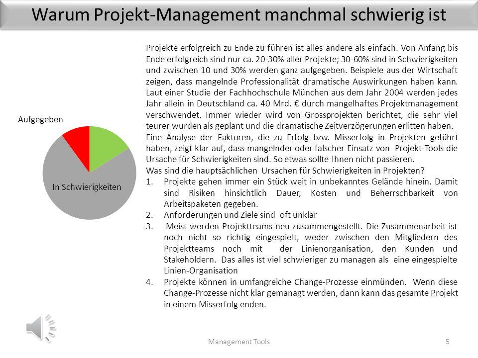 Warum Projekt-Management manchmal schwierig ist