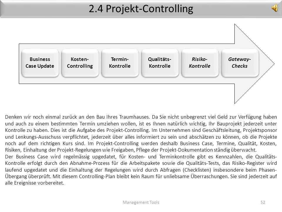 2.4 Projekt-Controlling Business Case Update Kosten-Controlling