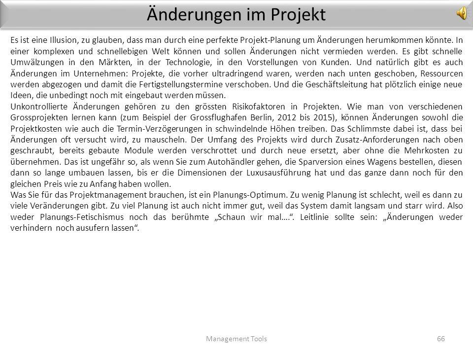 Änderungen im Projekt