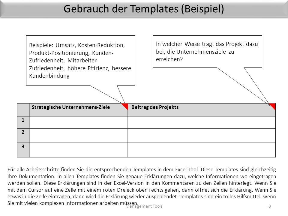 Gebrauch der Templates (Beispiel)