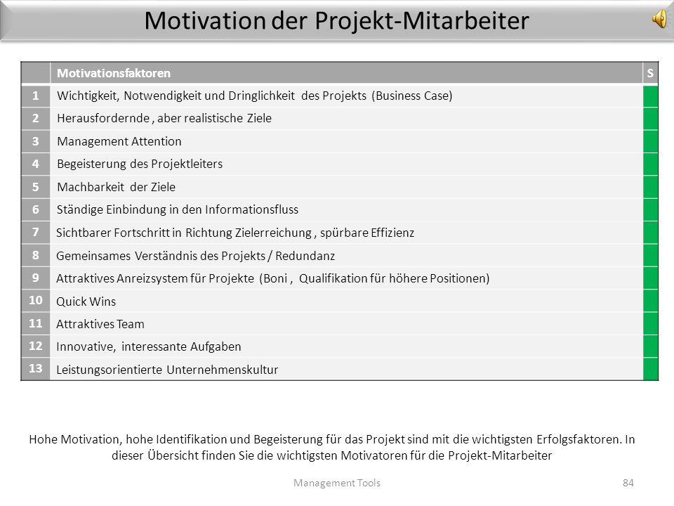 Motivation der Projekt-Mitarbeiter