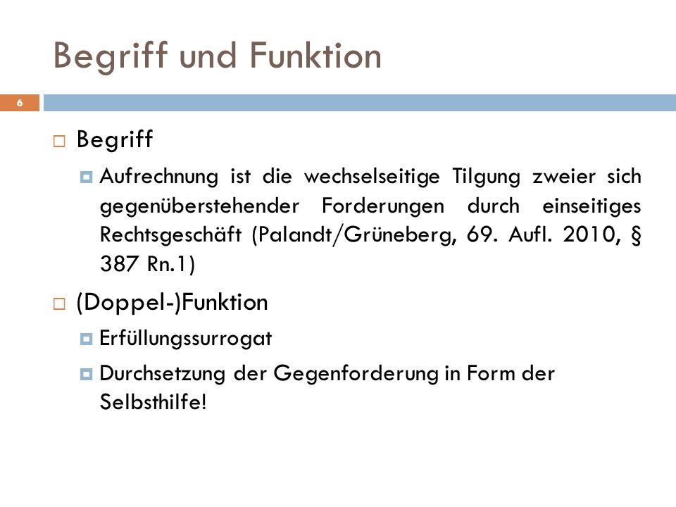 Begriff und Funktion Begriff (Doppel-)Funktion