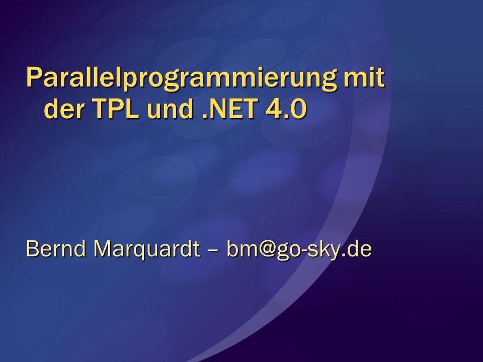Parallelprogrammierung mit der TPL und .NET 4.0