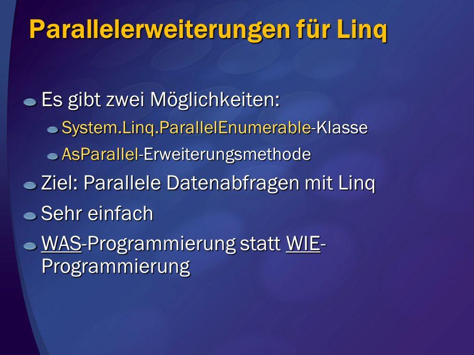 Parallelerweiterungen für Linq