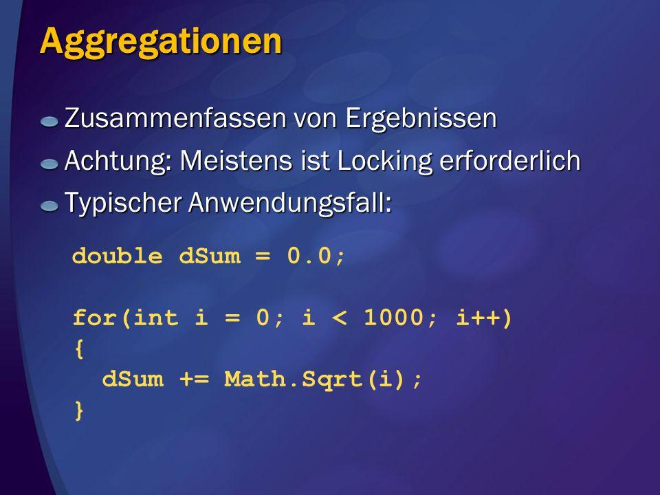 Aggregationen Zusammenfassen von Ergebnissen