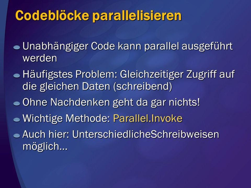 Codeblöcke parallelisieren