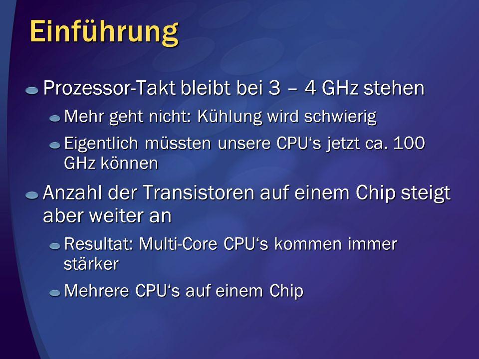 Einführung Prozessor-Takt bleibt bei 3 – 4 GHz stehen