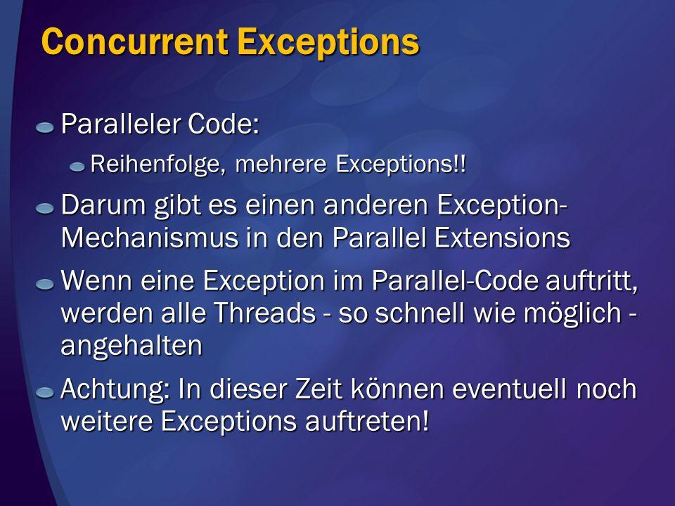 Concurrent Exceptions