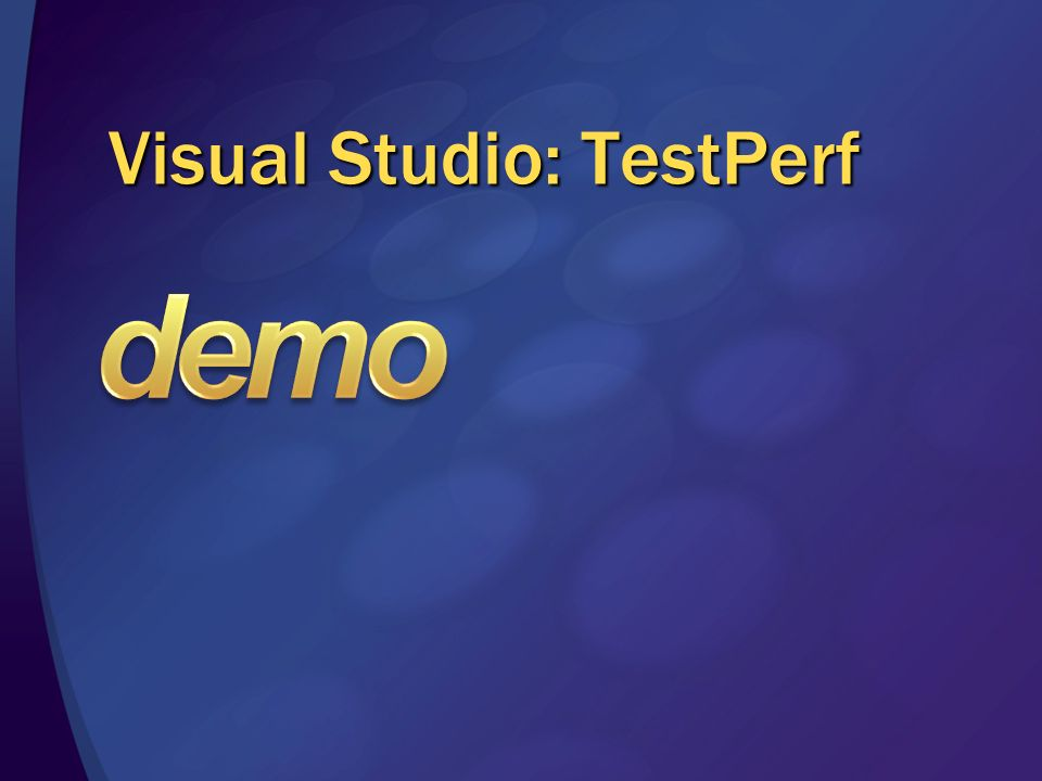 Visual Studio: TestPerf