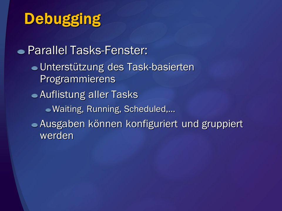 Debugging Parallel Tasks-Fenster: