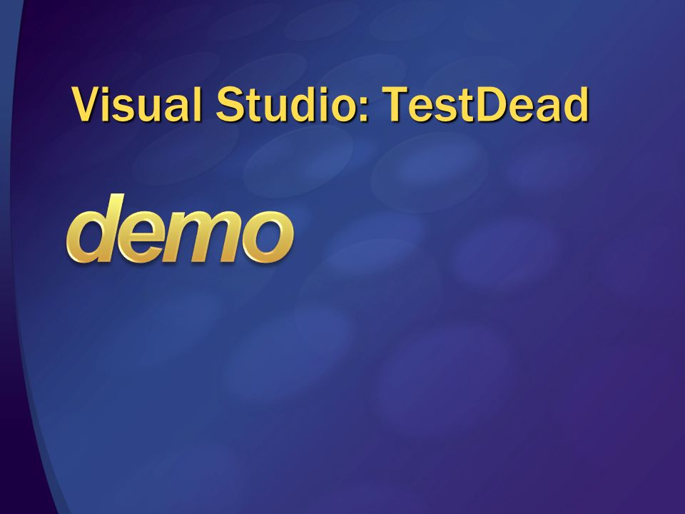 Visual Studio: TestDead