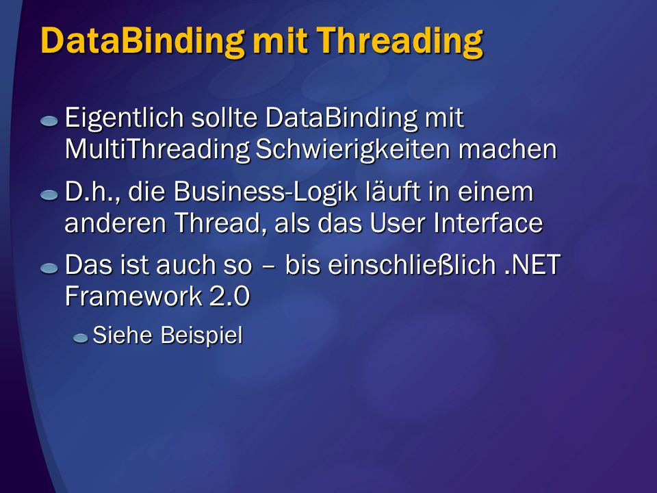 DataBinding mit Threading