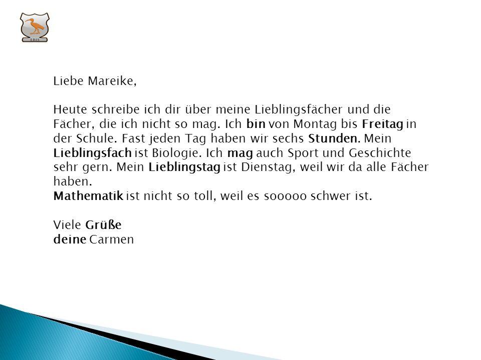 Liebe Mareike,