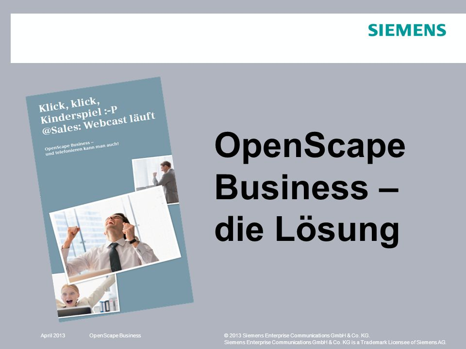 OpenScape Business – die Lösung