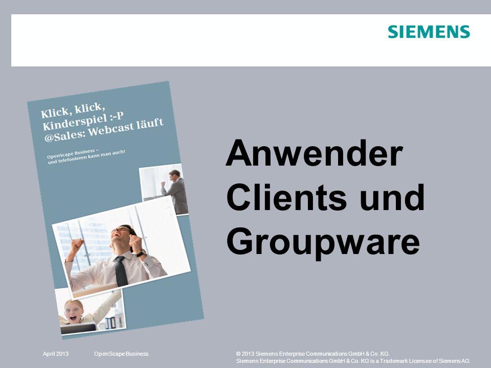 Anwender Clients und Groupware