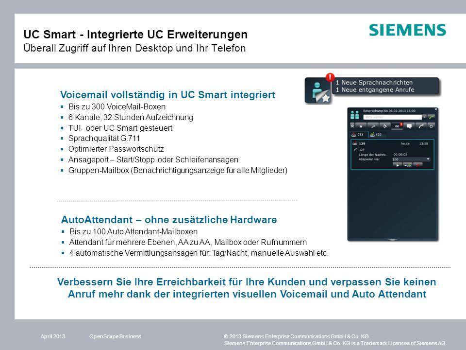 UC Smart - Integrierte UC Erweiterungen Überall Zugriff auf Ihren Desktop und Ihr Telefon