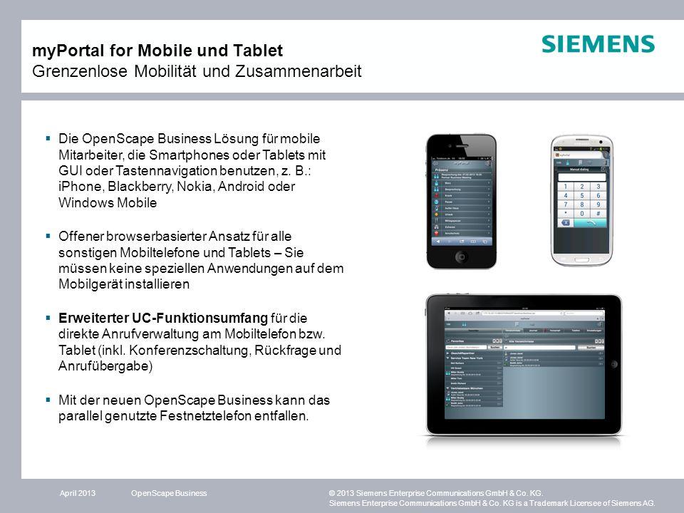 myPortal for Mobile und Tablet Grenzenlose Mobilität und Zusammenarbeit