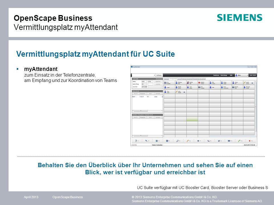 OpenScape Business Vermittlungsplatz myAttendant