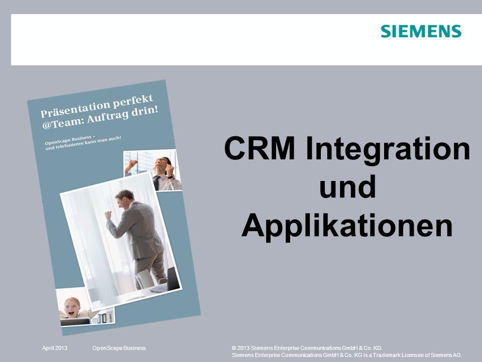 CRM Integration und Applikationen