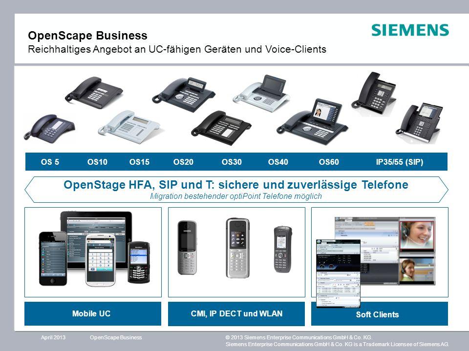 OpenStage HFA, SIP und T: sichere und zuverlässige Telefone