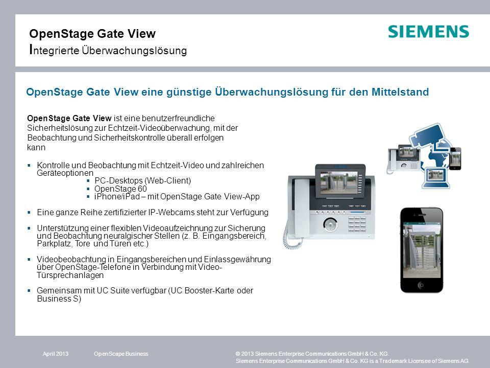 OpenStage Gate View Integrierte Überwachungslösung