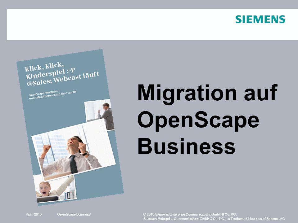 Migration auf OpenScape Business