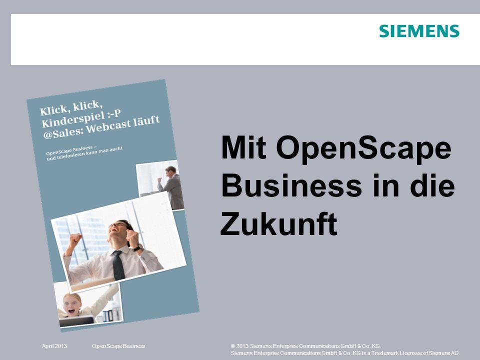 Mit OpenScape Business in die Zukunft