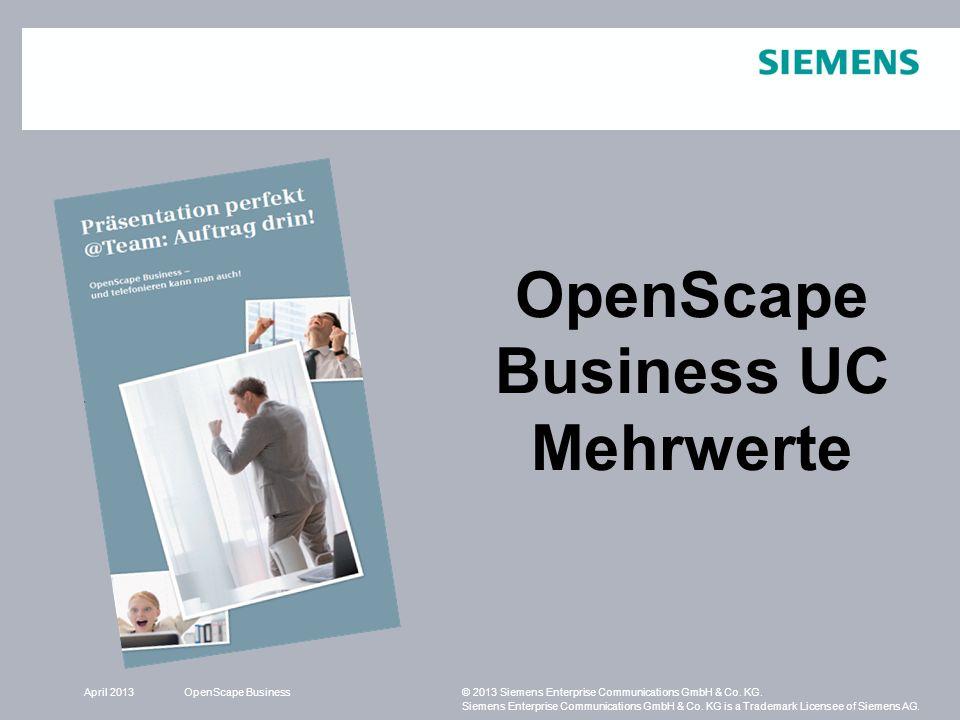 OpenScape Business UC Mehrwerte