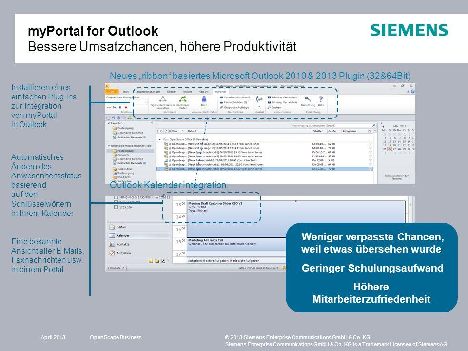 myPortal for Outlook Bessere Umsatzchancen, höhere Produktivität