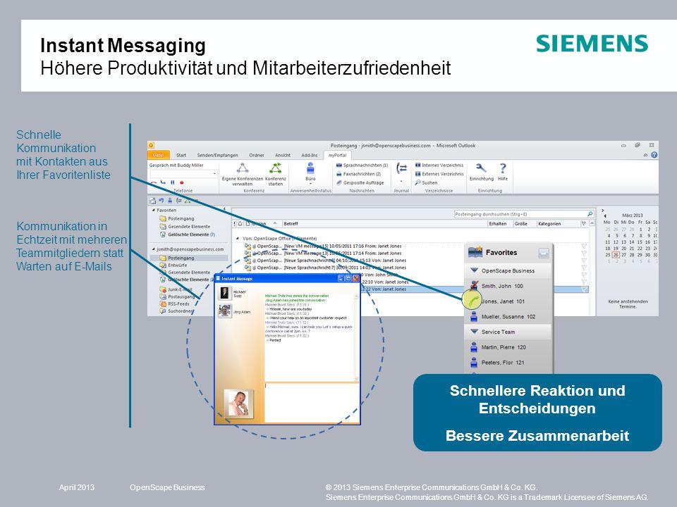 Instant Messaging Höhere Produktivität und Mitarbeiterzufriedenheit