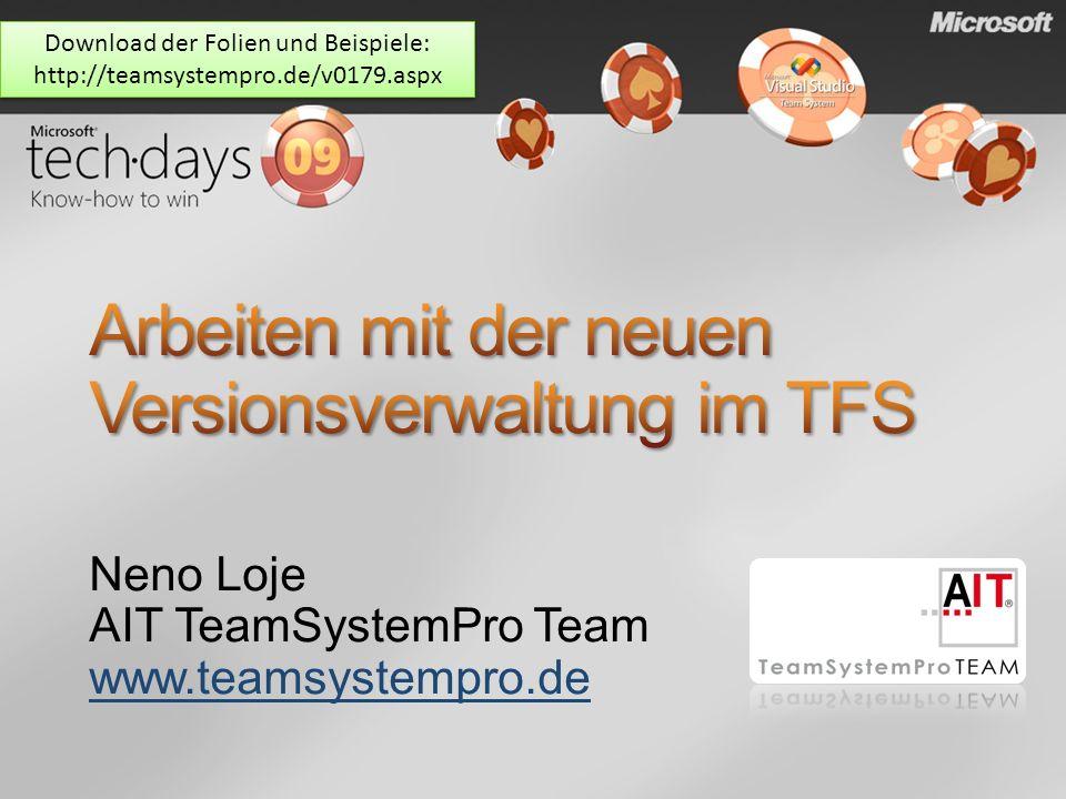 Arbeiten mit der neuen Versionsverwaltung im TFS