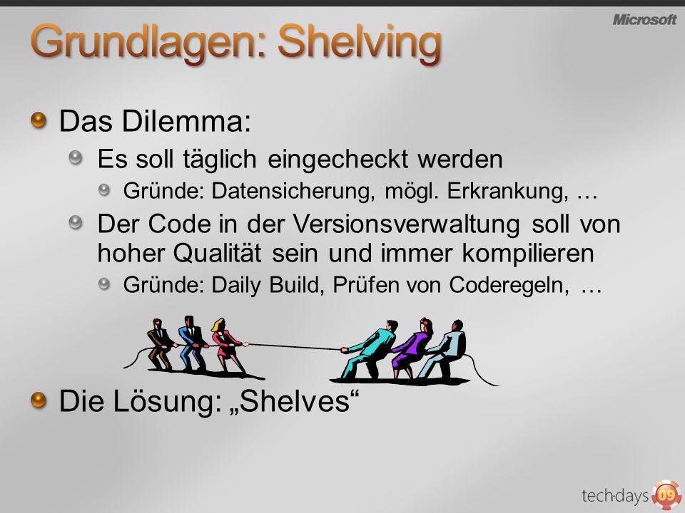"""Grundlagen: Shelving Das Dilemma: Die Lösung: """"Shelves"""