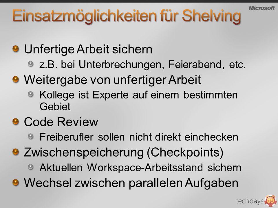 Einsatzmöglichkeiten für Shelving